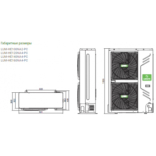 LESSAR Heat Pump LUM-HE120NA2-PC