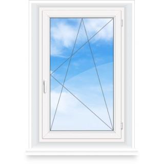 Окно (поворотно-откидное открывание)  ширина 700 * высота 1400